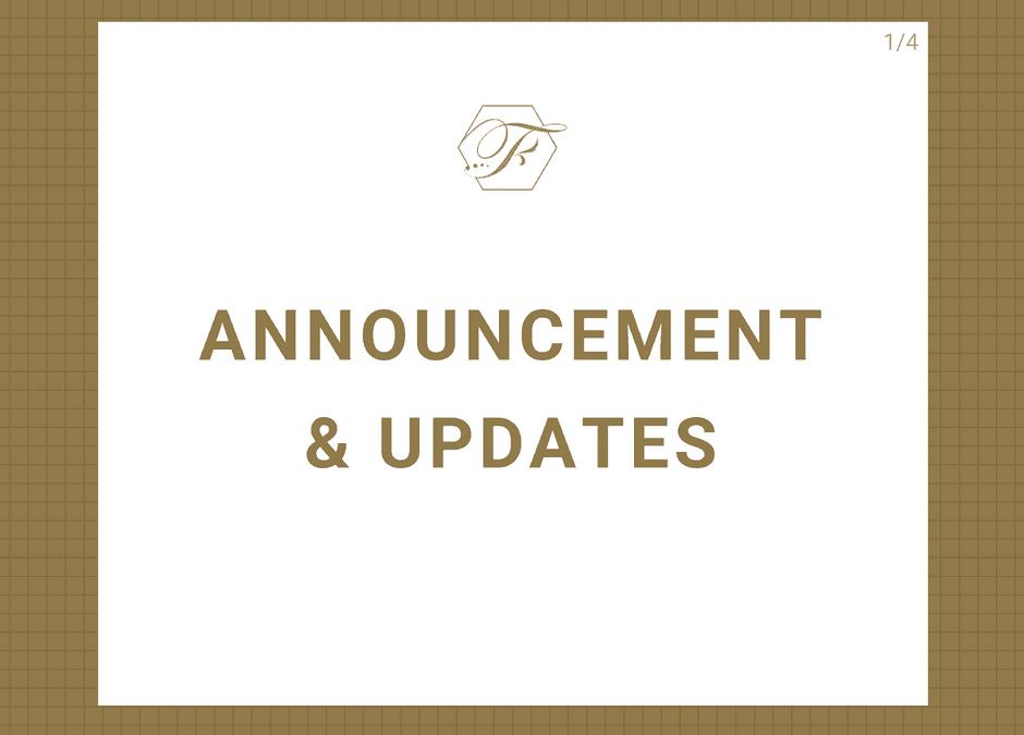 Announcements & Updates
